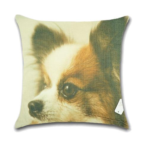 Dog Cushion Cover Waist Throw Pillow Case PCU0145