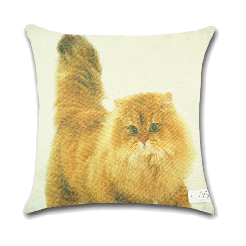Cat Cushion Cover Waist Throw Pillow Case PCU0148