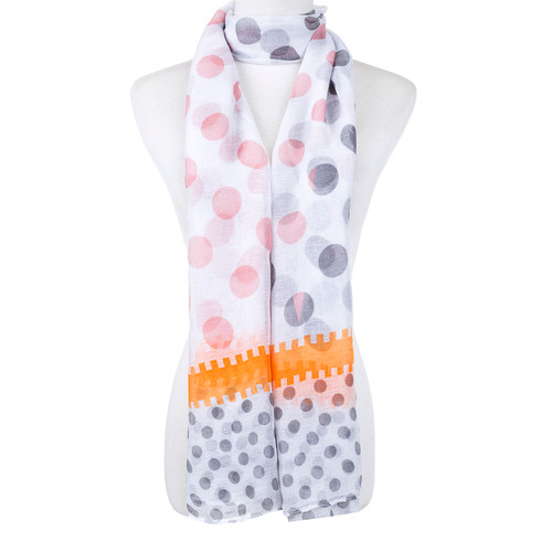 Polka Dot All Season Summer Large Scarf SC8529-2