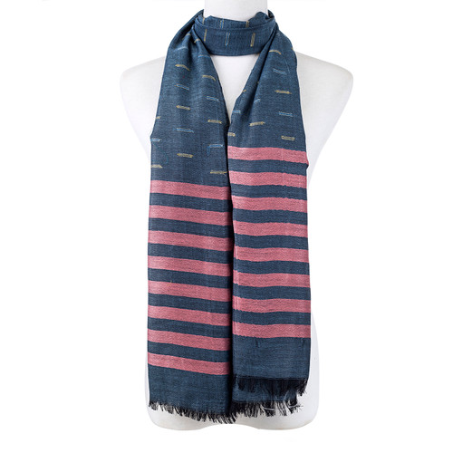 Stripes All Season Summer Large Scarf SC8547-2