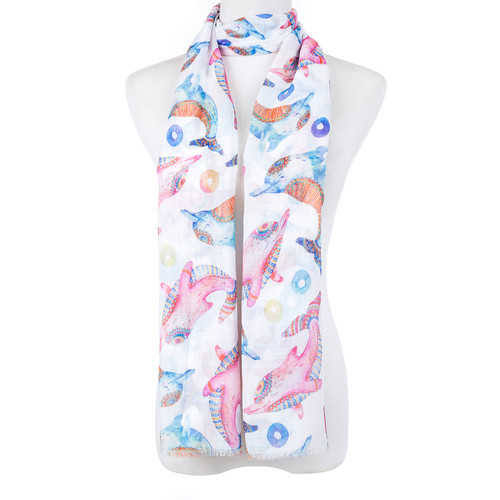 Dolphin All Season Summer Large Scarf SC8590