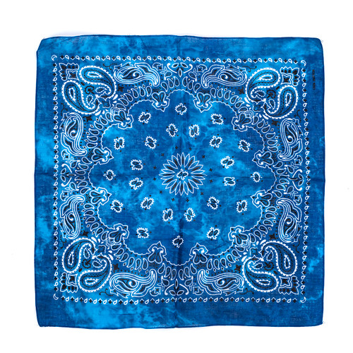 100% COTTON BANDANAS Paisley Square Head Scarf BPS013
