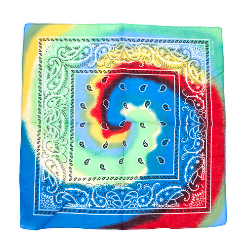 100% COTTON BANDANAS Paisley Square Head Scarf BPS017