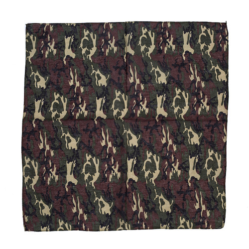 100% COTTON BANDANAS Paisley Square Head Scarf BPS020