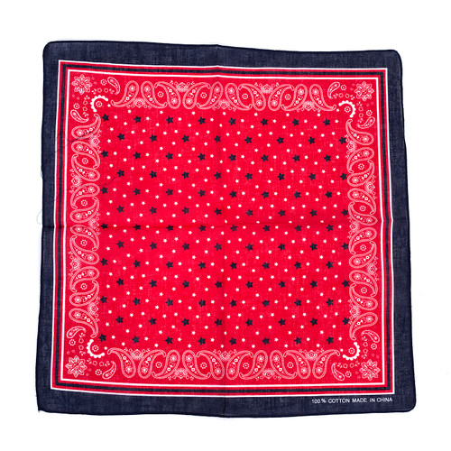 100% COTTON BANDANAS Paisley Square Head Scarf BPS027