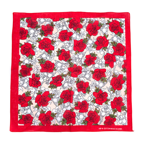 100% COTTON BANDANAS Paisley Square Head Scarf BPS030