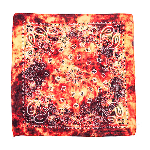 100% COTTON BANDANAS Paisley Square Head Scarf BPS032
