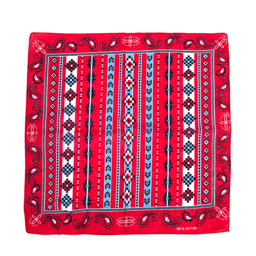 100% COTTON BANDANAS Paisley Square Head Scarf BPS033
