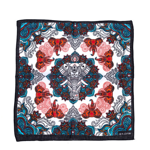 100% COTTON BANDANAS Paisley Square Head Scarf BPS041