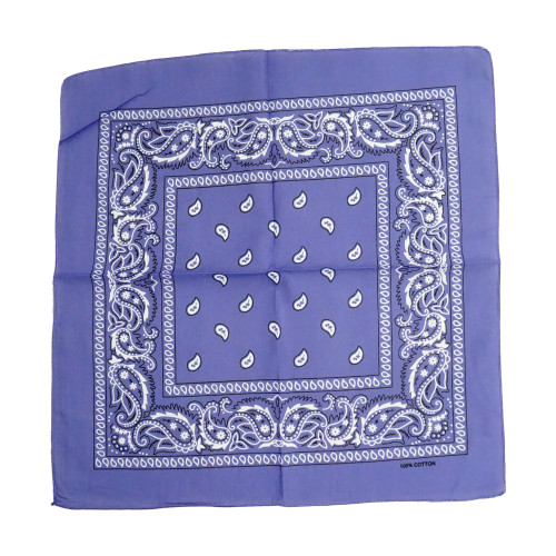 Lilac 100% COTTON BANDANAS Paisley Square Head Scarf BPS001