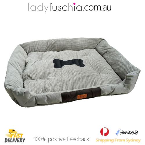 Grey Washable Pet Snuggle Beds