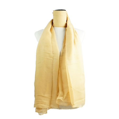 Plain Camel Spring  Summer Lightweight Cotton Feeling Scarf SC9245