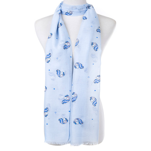 Blue Unicorn With Silve Sparkles Scarf SC8748