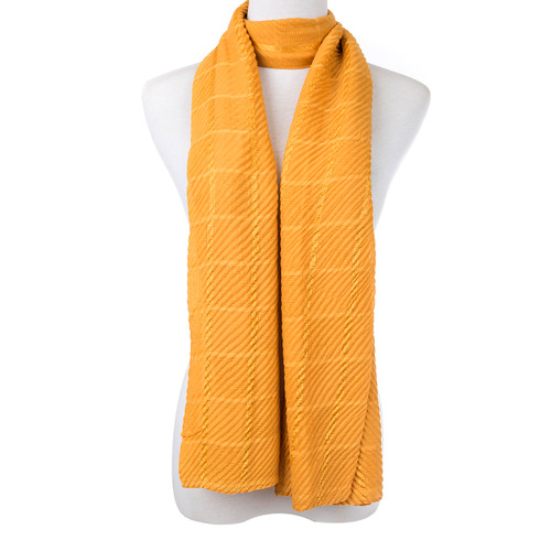 Yellow Vintage Check Scarf SC8750