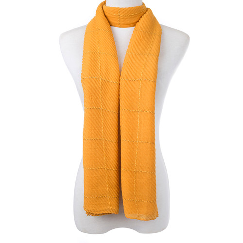 Yellow Nova Check Scarf SC8755