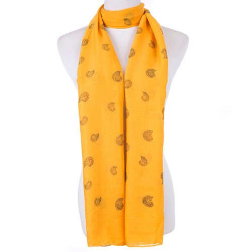 Yellow Snail Shell Spiral Scarf SC8763