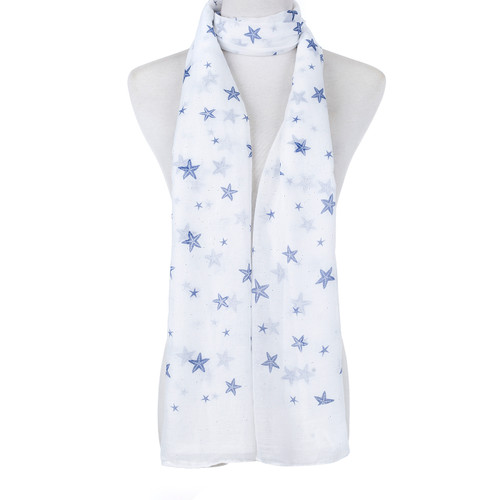 White Natural Sea Star Fish Scarf SC8766