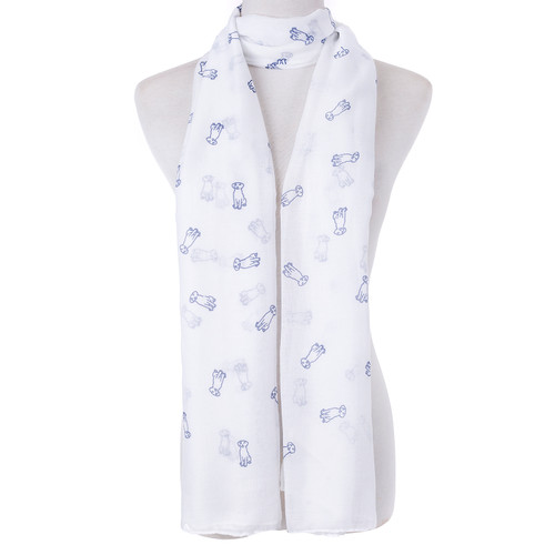 White Dog Lover  Scarf SC8767