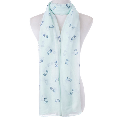 Teal Dog Lover  Scarf SC8767
