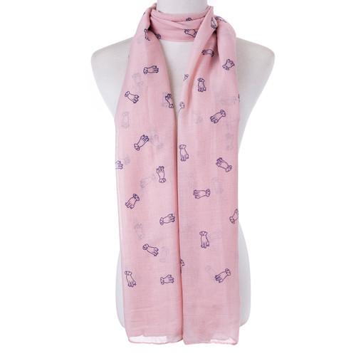 Pink Dog Lover  Scarf SC8767
