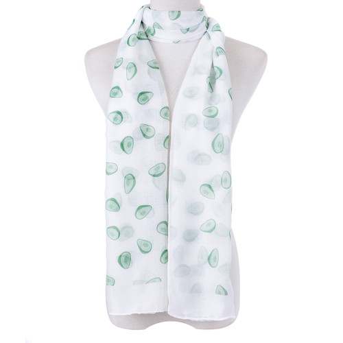 White Avocado Fruit Scarf SC8768