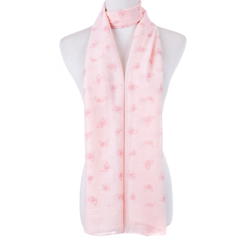 Pink Butterfly Scarf SC8769