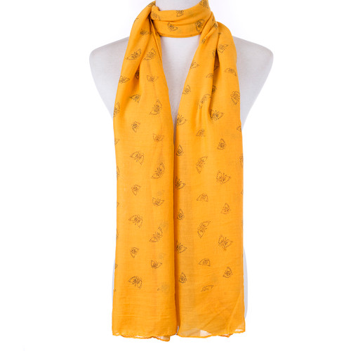 Yellow Butterfly Scarf SC8769