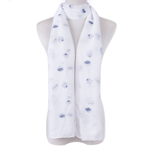 White Butterfly Scarf SC8770
