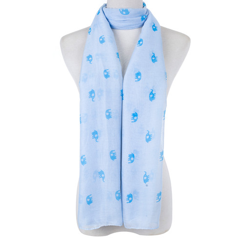 BLue Cute Baby Elephant Scarf SC8771