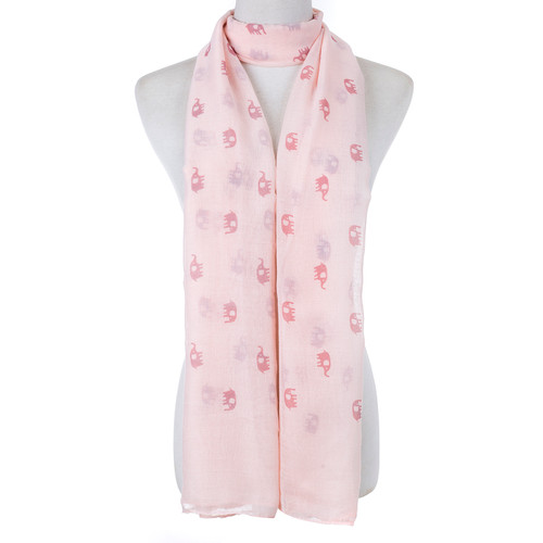Pink Cute Baby Elephant Scarf SC8771