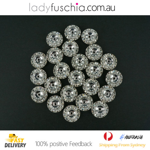 50G X Rhinestone Diamond Spacer Beads