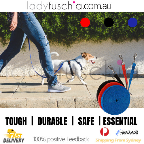 Dog Training Lead - Extra Long Blue Leash