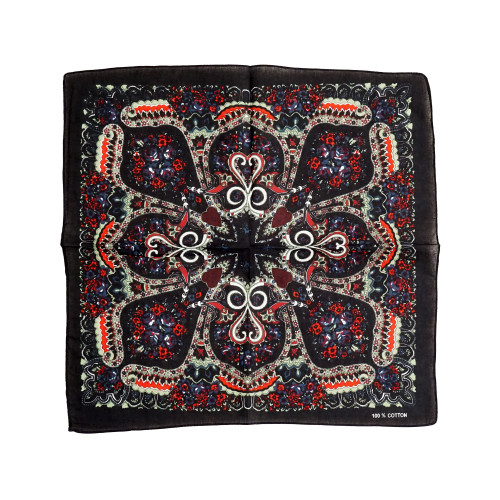 100% COTTON BANDANAS Paisley Square Head Scarf BPS048