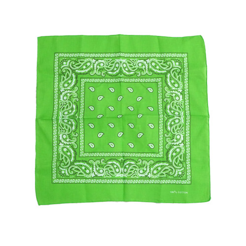 L Green 100% COTTON BANDANAS Paisley Square Head Scarf BPS001