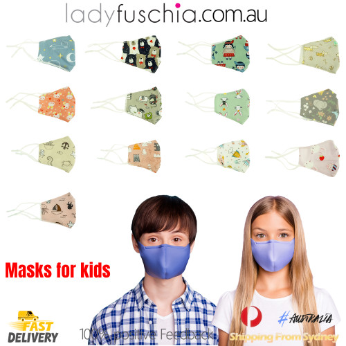 Kids Toddler Face Masks -Whale