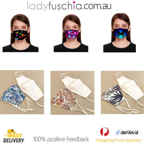 2021 NEW Mask Dustproof Protective Masks-Pink Paisley Design