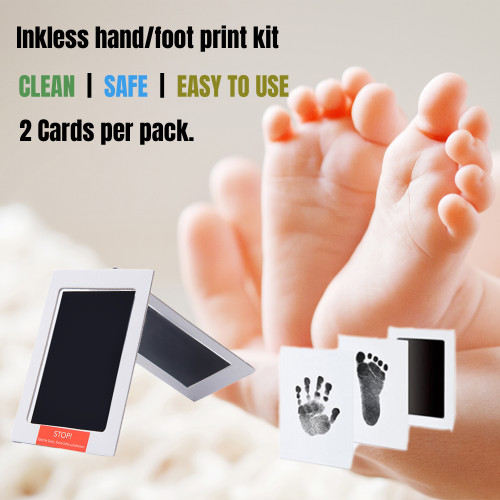 Newborn Footprint Handprint Safe Inkless Gift Foot Hand Print Wipe Kit Gift AU