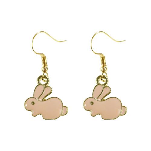 Easter Bunny Earrings EHM1257 PINK
