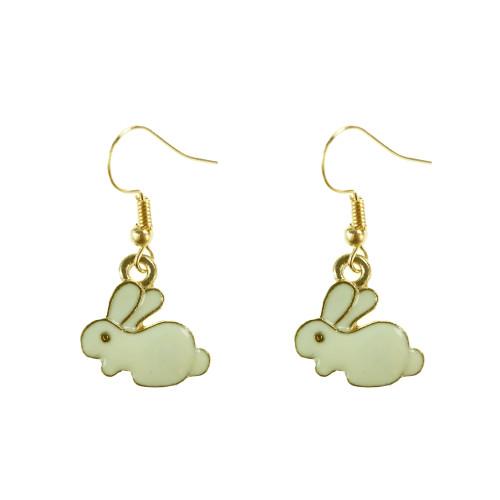 Easter Bunny Earrings EHM1257 WHITE