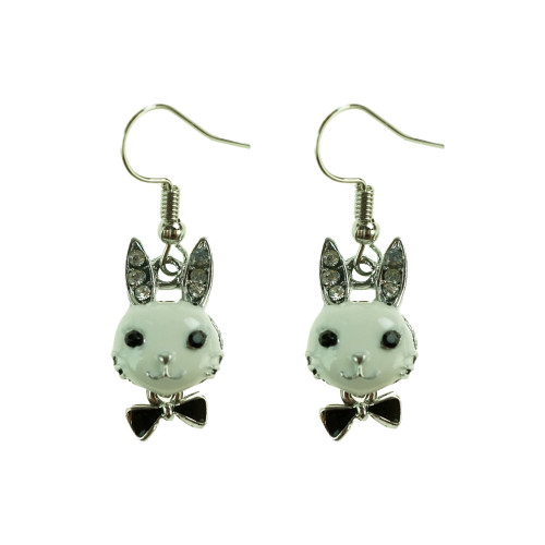 Easter Bunny Earrings EHM1277 WHITE