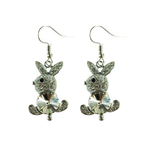 Easter Bunny Earrings EHM1279 CLEAR