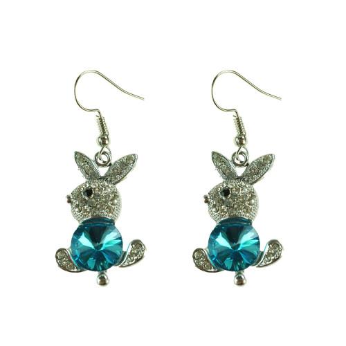 Easter Bunny Earrings EHM1279 BLUE