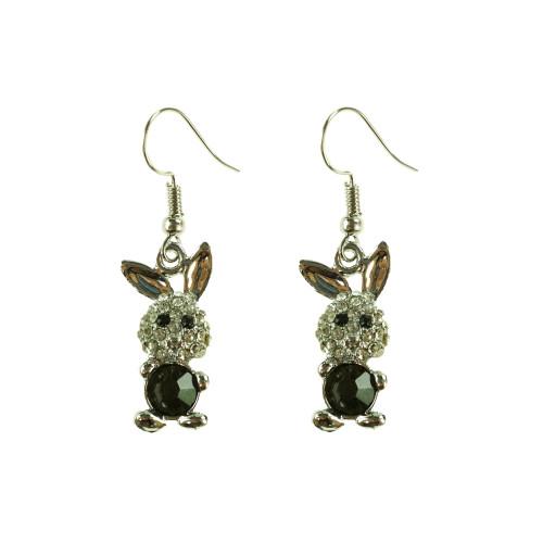 Easter Bunny Earrings EHM1280 BLACK