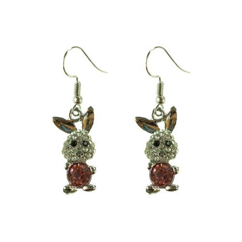 Easter Bunny Earrings EHM1280 PINK