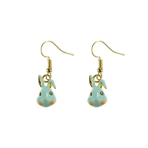 Easter Bunny Earrings EHM1282 BLUE