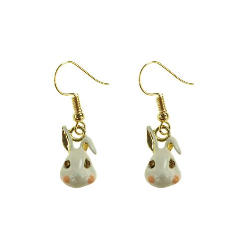 Easter Bunny Earrings EHM1282 PINK