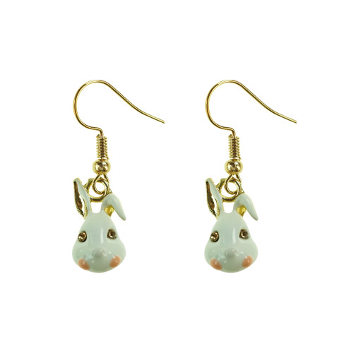 Easter Bunny Earrings EHM1282 WHITE