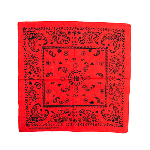 100% COTTON BANDANAS Paisley Square Head Scarf BPS061 RED