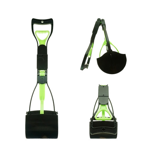 Foldable Handheld Pooper Scooper Large-Green