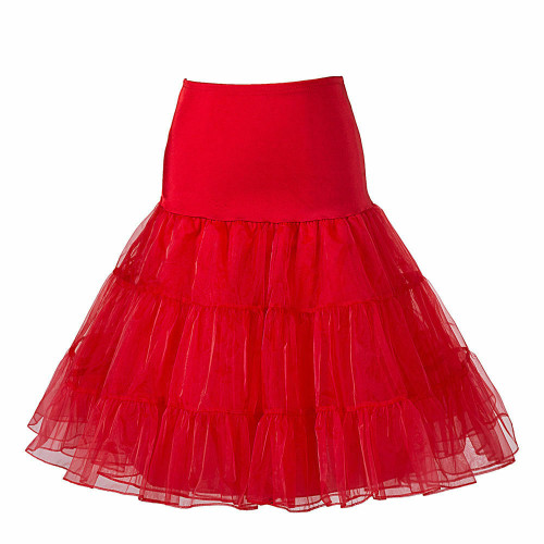 Women Tutu Skirt-Red